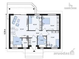 Parduodamas namas Šventininkų k., 79 kv.m ploto, 0 aukštai