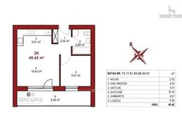 Parduodamas butas Leičių g., Pašilaičiuose, Vilniuje, 45 kv.m ploto, 2 kambariai