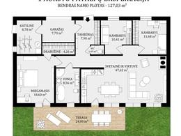 Parduodamas namas Geibonių g., Girnakalių k., 127.03 kv.m ploto, 1 aukštai