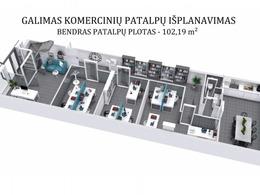 Parduodamos patalpos A. Juozapavičiaus g., Šnipiškėse, Vilniuje, 240 kv.m ploto