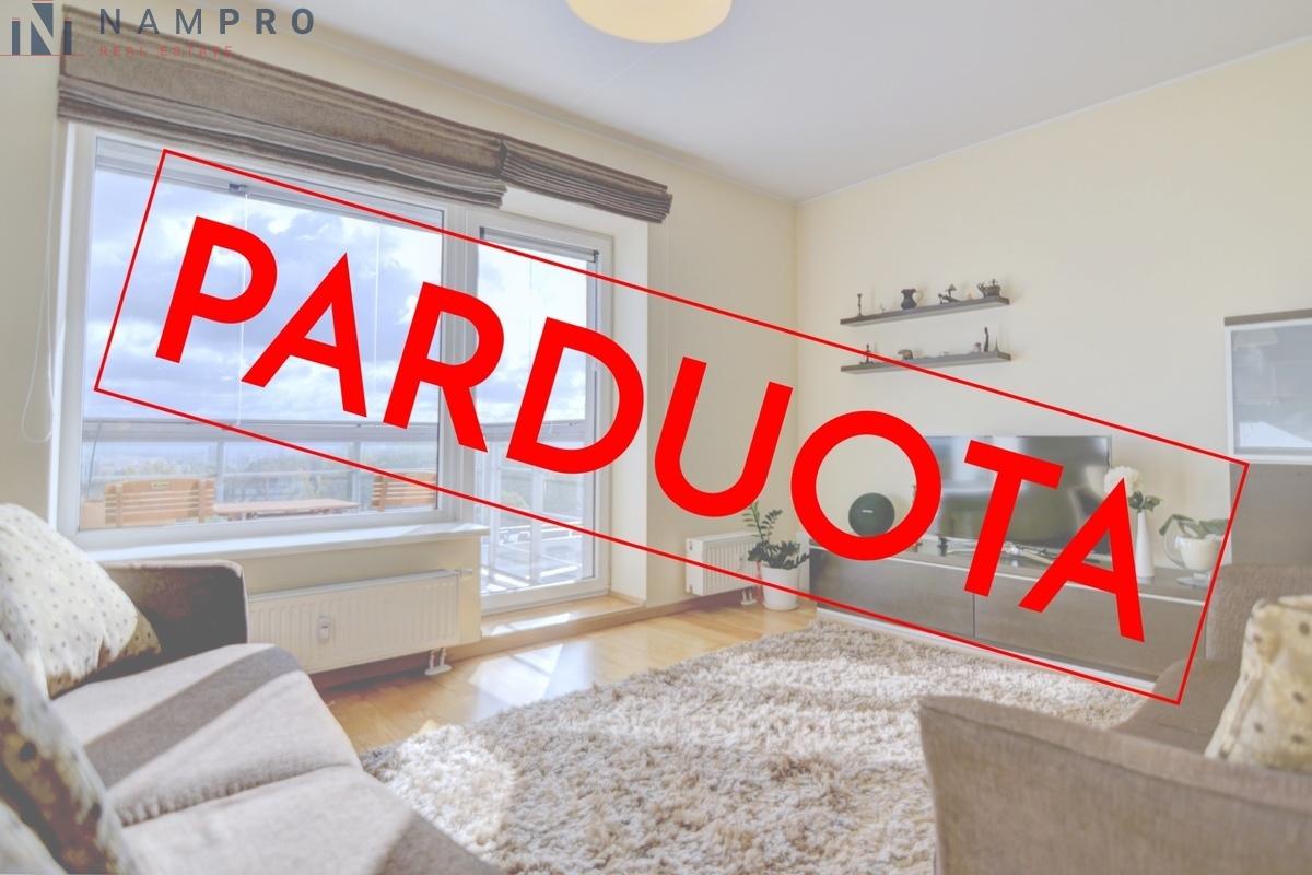 Parduodamas butas Jono Kairiūkščio g., Verkiuose, Vilniuje, 42 kv.m ploto, 1 kambariai