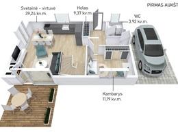 Parduodamas namas 122 kv.m ploto, 2 aukštai