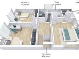 Parduodamas namas Galgių k., 122 kv.m ploto, 2 aukštai