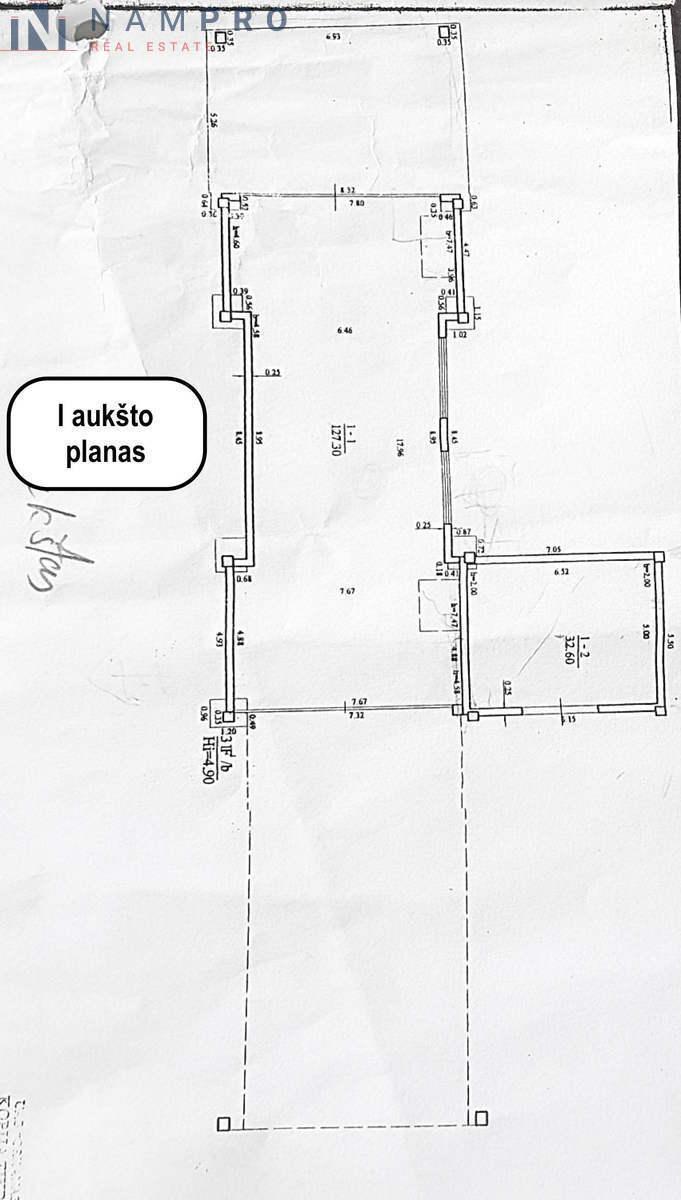 Parduodamos patalpos Savanorių pr., Vilkpėdėje, Vilniuje, 500 kv.m ploto