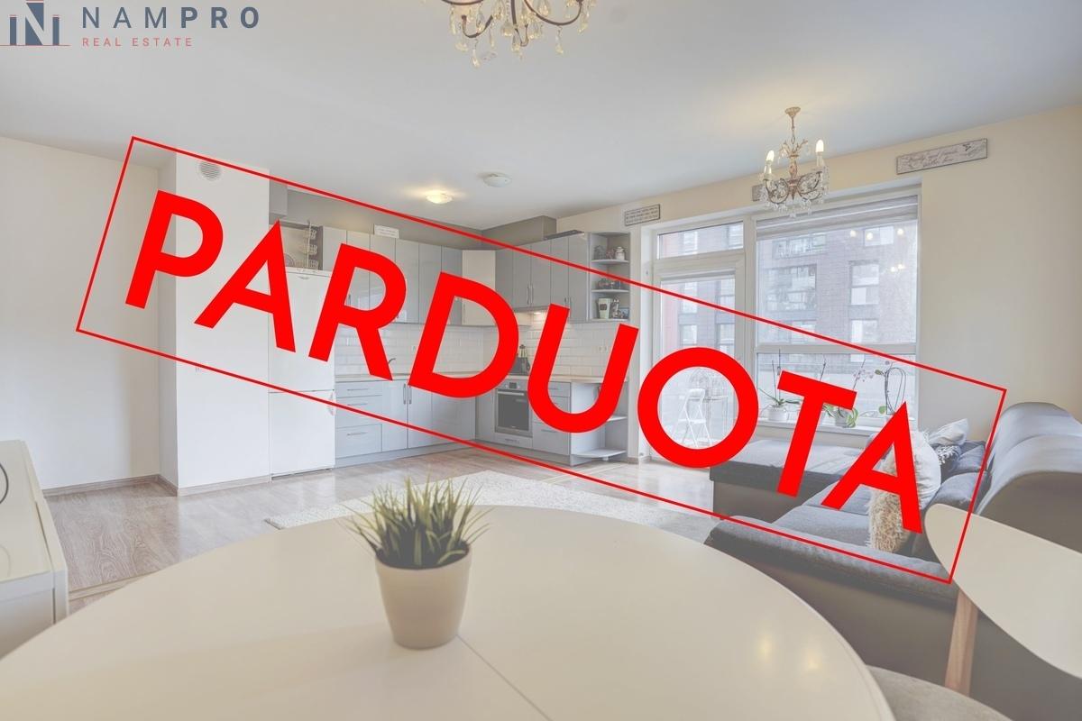 Parduodamas butas Nidos g., Pilaitėje, Vilniuje, 65.79 kv.m ploto, 3 kambariai