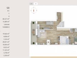 Parduodamas butas Kernavės g., Šnipiškėse, Vilniuje, 83.57 kv.m ploto, 4 kambariai