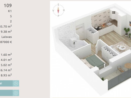Parduodamas butas Šnipiškėse, Vilniuje, 35.7 kv.m ploto, 2 kambariai [..]