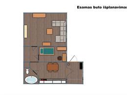 Parduodamas butas Vytauto g., Rokiškyje, 46 kv.m ploto, 2 kambariai