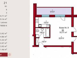 Parduodamas butas Rygos g., Justiniškėse, Vilniuje, 70.71 kv.m ploto, 3 kambariai