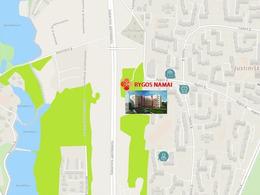 Parduodamas butas Rygos g., Justiniškėse, Vilniuje, 54.18 kv.m ploto, 2 kambariai