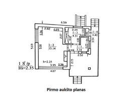 Parduodamas namas Strazdų 1-oji 10, Gervėnupio k., 49.47 kv.m ploto, 1 aukštai