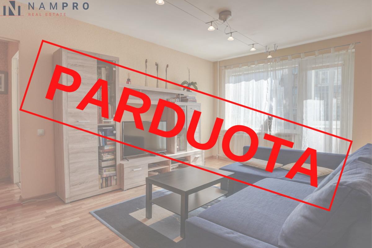 Parduodamas butas Žėručio g., Lazdynuose, Vilniuje, 63.77 kv.m ploto, 3 kambariai