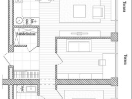 Parduodamas butas Versmės g., Jonučių II k., 71 kv.m ploto, 3 kambariai
