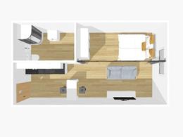Parduodamas butas Centre, Kaune, 48.63 kv.m ploto, 1 kambariai