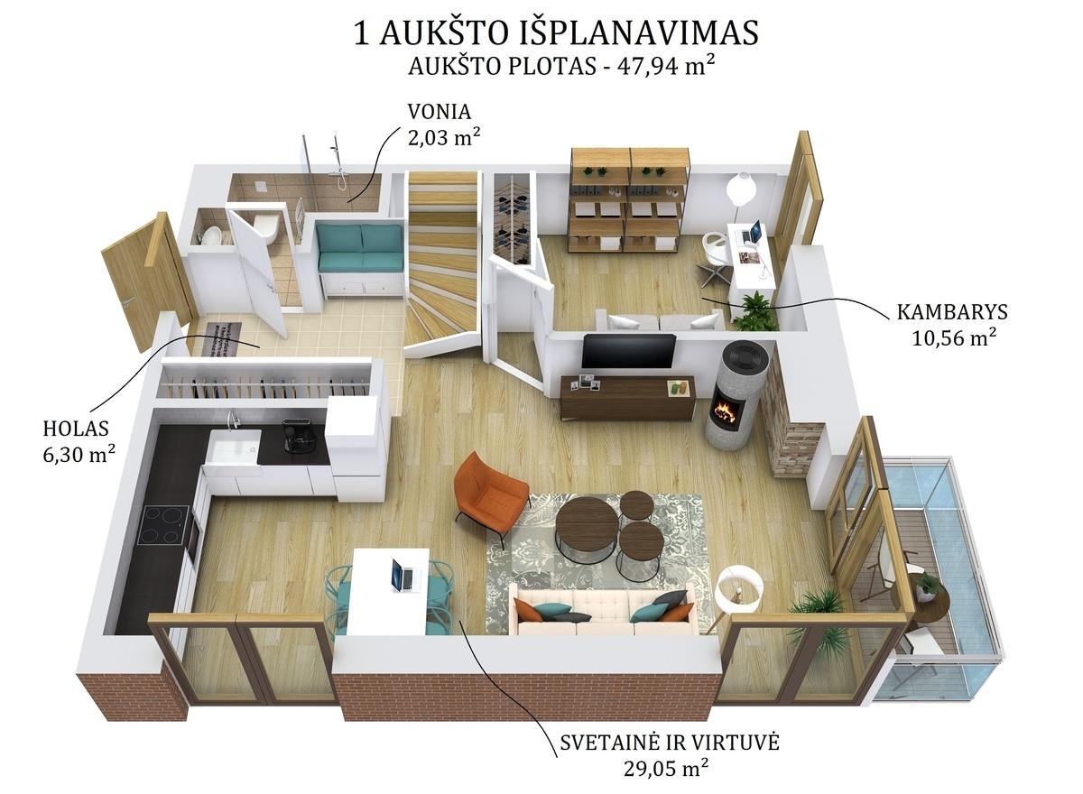 Parduodamas butas Polocko g., Užupyje, Vilniuje, 115 kv.m ploto, 4 kambariai - <strong>449 000 €