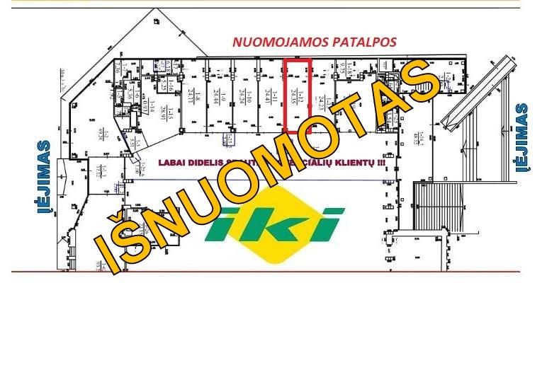 Nuomojamos patalpos Šeškinės g., Šeškinėje, Vilniuje, 23 kv.m ploto - <strong>650 €