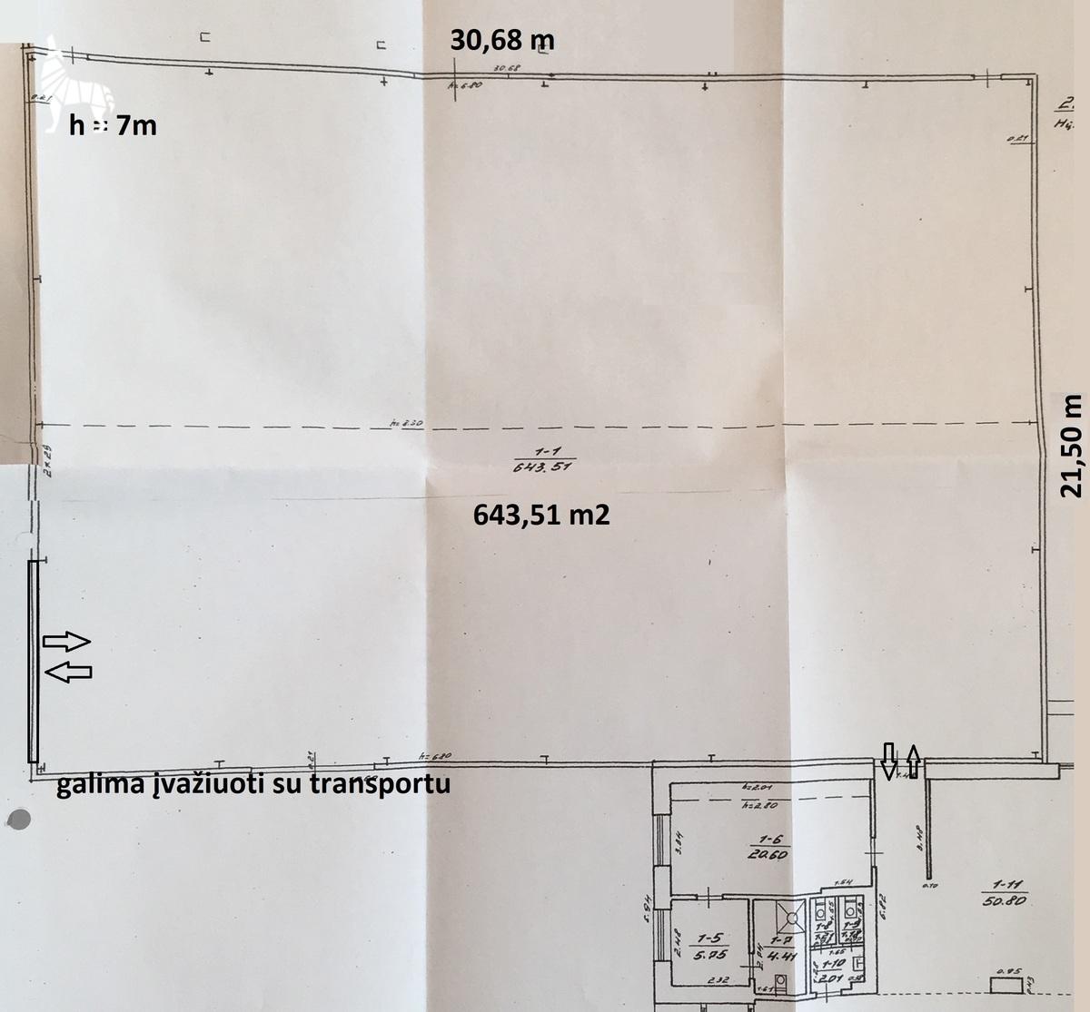 Nuomojamos patalpos Tarandės g. 34, Vilnius Tarandės g. 34, Vilnius, Pašilaičiuose, Vilniuje, 645 kv.m ploto - <strong></noscript><img class=