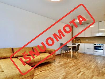 Nuomojamas butas Linkmenų g. 53, Šnipiškėse, Vilniuje, 46 kv.m ploto, 2 kambariai